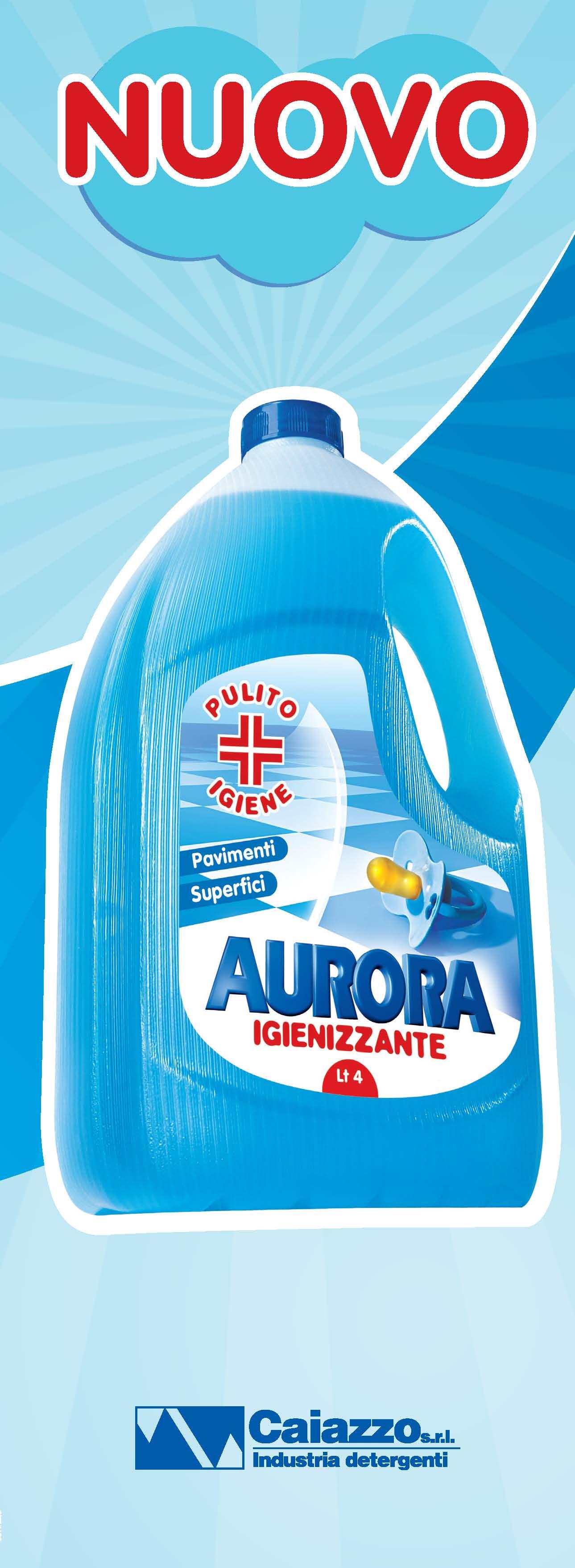 Aurora detergenti copywriting leaflet