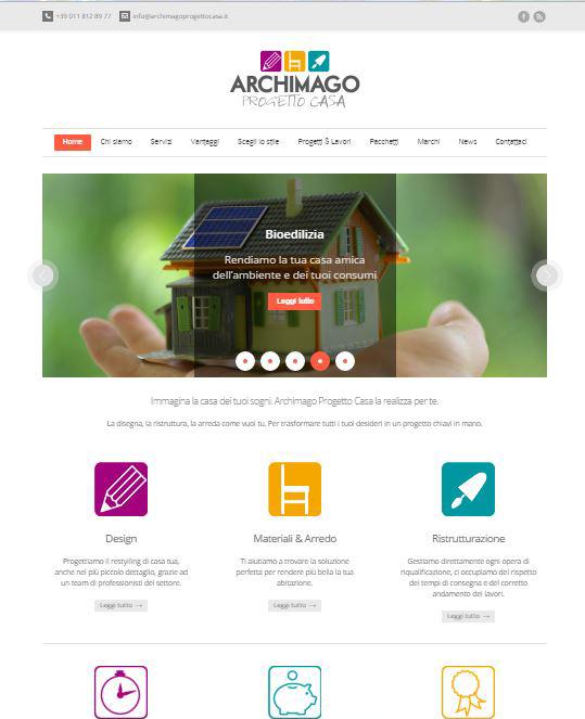 Archimago Progetto Casa sito internet testi content editing