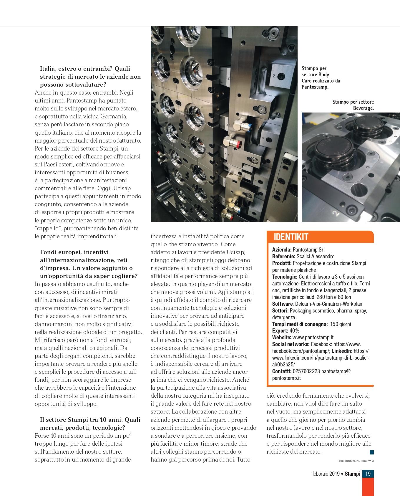 Rubrica dedicata all'Industria 4.0 - Rivista Stampi Tecniche Nuove Editore